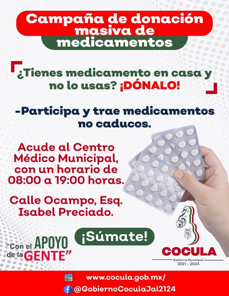 Campaña de donación masiva de medicamentos